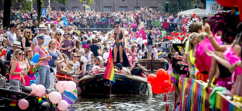 Gay Pride Amsterdam 2018 Pride On A Canal Only In Amsterdam